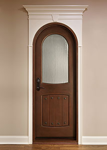 Wine-Cellar Mahogany Wood Front Door  - GDI-595G