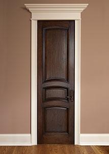 DBI-611A HS Mahogany-Walnut Handscraped Solid Wood Interior Door - Single