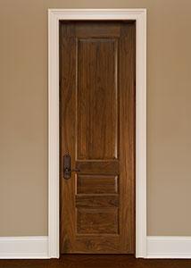 DBI-611B Walnut-Natural Walnut Solid Wood Interior Door - Single