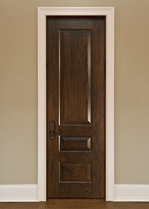 DBI-611C Walnut-Dark Walnut Solid Wood Interior Door - Single