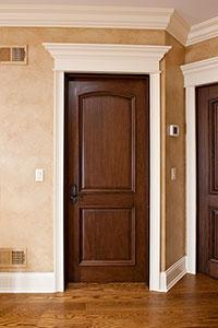 DBI-701A Mahogany-Walnut Solid Wood Interior Door - Single