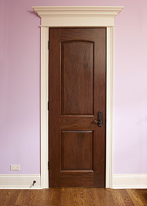DBI-701B Mahogany-Walnut Solid Wood Interior Door - Single