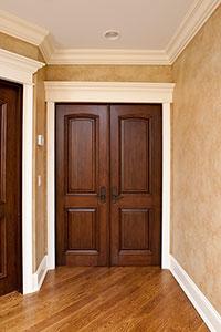 DBI-701 DD Mahogany-Walnut Solid Wood Interior Door - Double