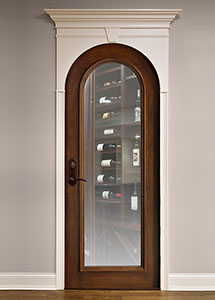 Wine-Cellar Mahogany Wood Front Door  - GDI-732