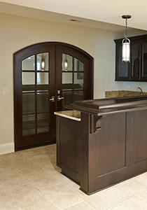 DBI-916A DD Mahogany-Dark Mahogany Solid Wood Interior Door - Double