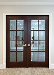 DBI-916 DD Mahogany-Dark Mahogany Solid Wood Interior Door - Double