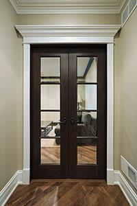 DBI-916 DD Mahogany-Walnut Solid Wood Interior Door - Double