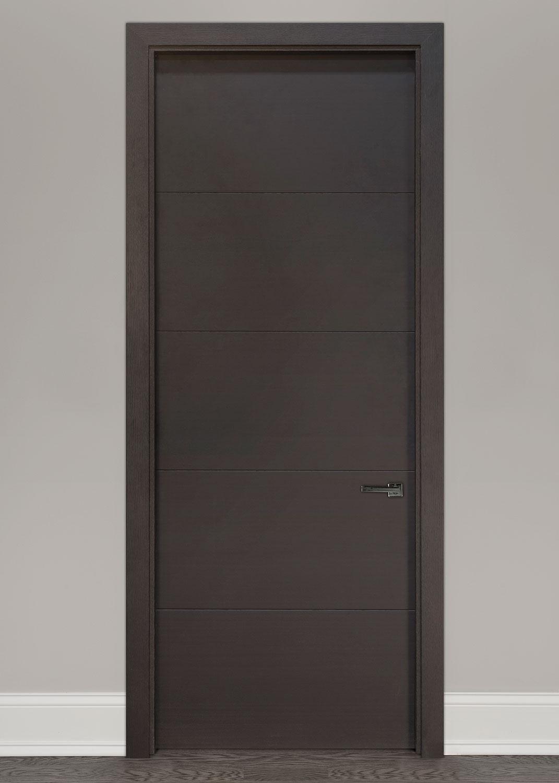 Modern Interior Door Custom Single Wood Veneer Solid Core With Coffee Bean Finish Modern Model Dbim 8005 Modern