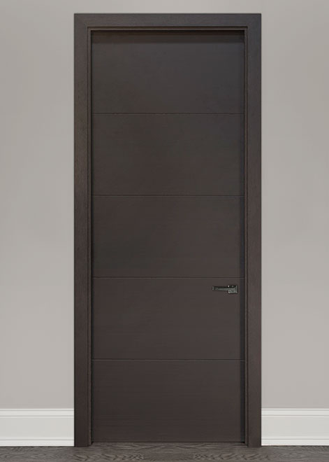 Modern Mahogany (Rift Cut) Wood Interior Door - Single - DBIM-8005