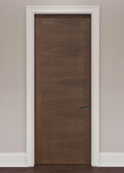 Modern Mahogany (Regular Cut) Wood Interior Door - Single - DBIM-L60