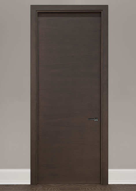 Modern Mahogany (Regular Cut) Wood Interior Door - Single - DBIM-L62