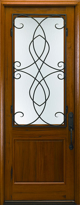 Classic Andean Walnut Wood Front Door - Single - DB-M-768FC CST