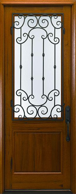 Classic Andean Walnut Wood Front Door - Single - DB-M-768FM CST