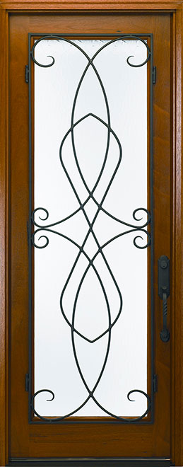 Classic Andean Walnut Wood Front Door - Single - DB-M-788FC CST