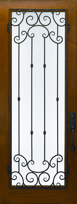 Classic Andean Walnut Wood Front Door - Single - DB-M-788FM CST