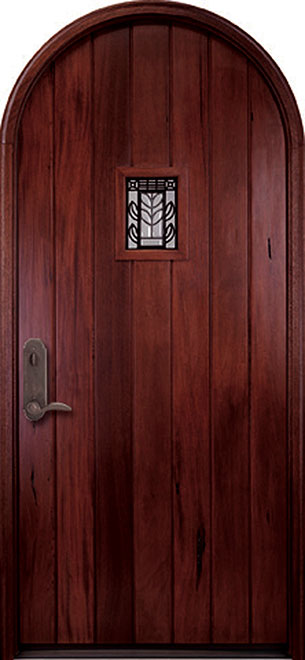 Classic Andean Walnut Wood Front Door - Single - DB-M-A558 CST