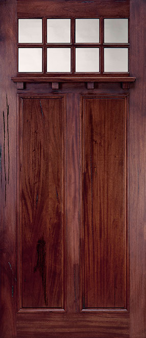 Classic Andean Walnut Wood Front Door - Single - DB-M-A748-42 CST
