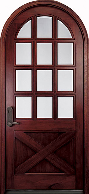 Classic Andean Walnut Wood Front Door - Single - DB-M-A758 CST