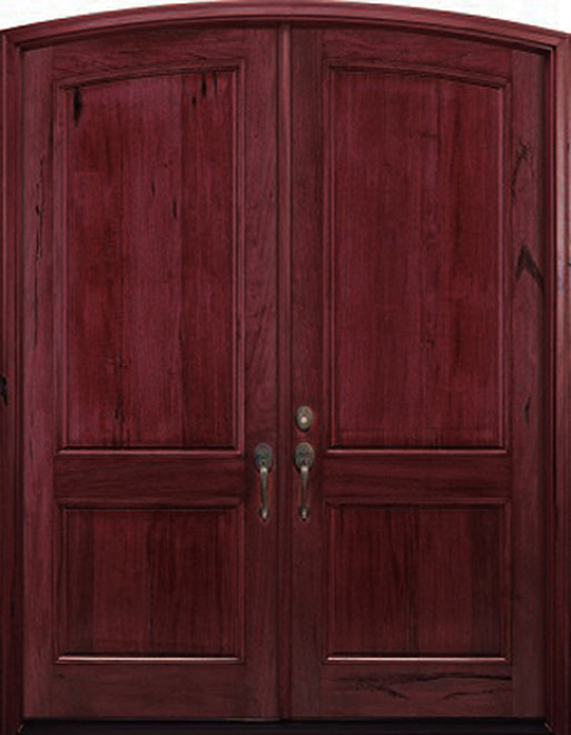 Classic Andean Walnut Wood Front Door - Double - DB-M-A81-ER DD CST