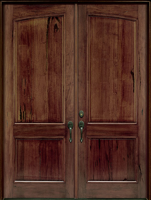 Classic Andean Walnut Wood Front Door - Double - DB-M-A81 DD CST