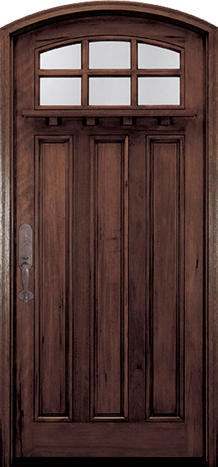 Classic Andean Walnut Wood Front Door - Single - DB-M-A908 CST