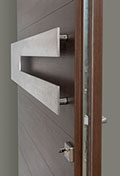 DB-EMD-A4W_CST_Mahogany-Walnut - Solid Wood Front Door Close-up 0