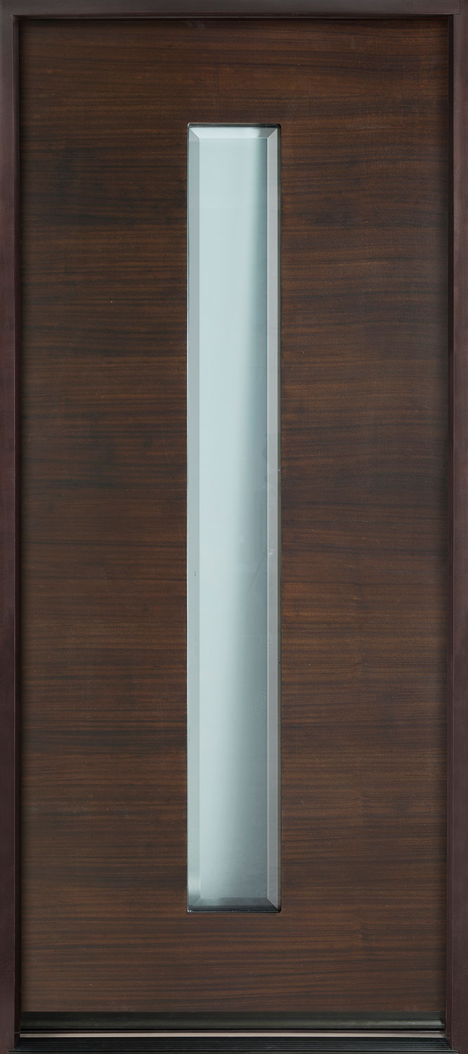 Modern Euro Collection Mahogany Wood Veneer Wood Front Door  - GD-EMD-D4W