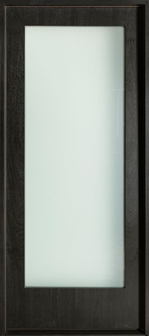 Modern Mahogany Wood Veneer Wood Front Door - Single - DB-EMD-001W CST