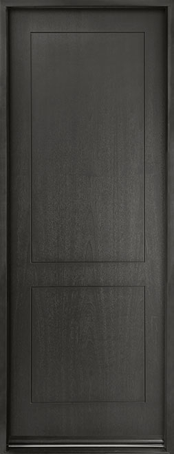 Modern Euro Collection Mahogany Wood Veneer Wood Entry Door - Single - DB-EMD-200T