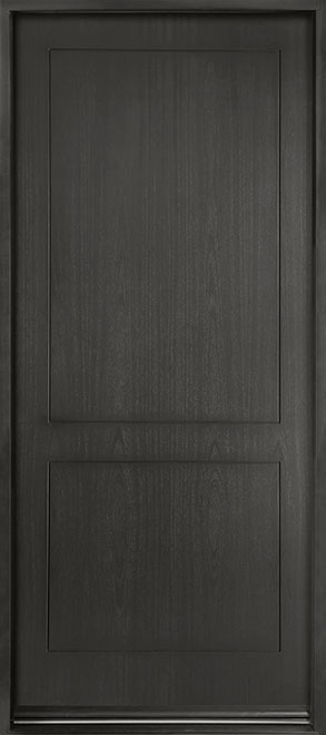 Modern Euro Collection Mahogany Wood Veneer Wood Entry Door - Single - DB-EMD-200W