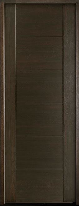 Modern Euro Collection Mahogany Wood Veneer Wood Entry Door - Single - DB-EMD-711T