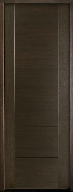Modern Euro Collection Mahogany Wood Veneer Wood Entry Door - Single - DB-EMD-711T