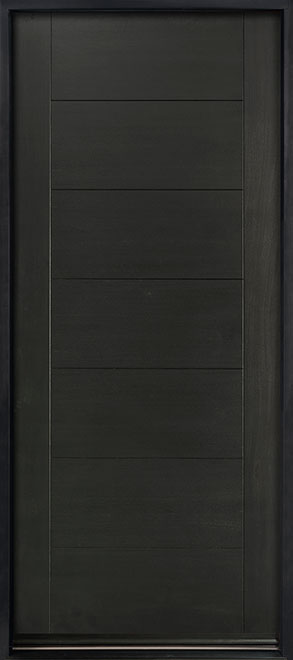 Modern Euro Collection Mahogany Wood Veneer Wood Entry Door - Single - DB-EMD-711W