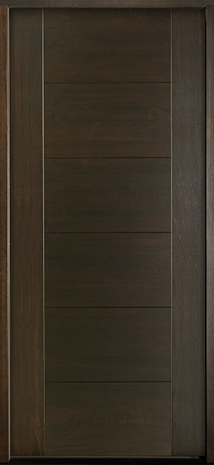 Modern Euro Collection Mahogany Wood Veneer Wood Entry Door - Single - DB-EMD-711