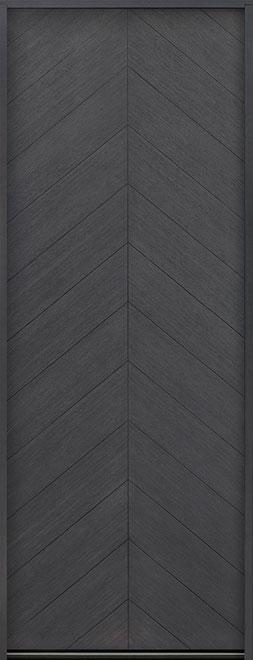 Modern Euro Collection Oak Wood Veneer Wood Entry Door - Single - DB-EMD-715T