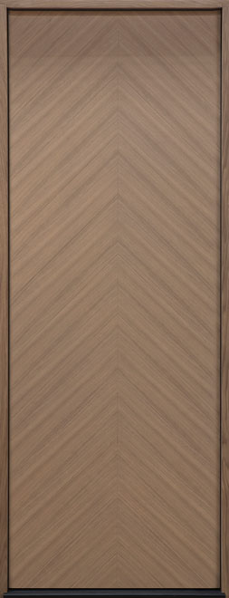 Modern Euro Collection Oak Wood Veneer Wood Entry Door - Single - DB-EMD-715T