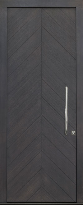 Modern Rift Cut White Oak Veneer Wood Front Door - Single - DB-EMD-715W CST