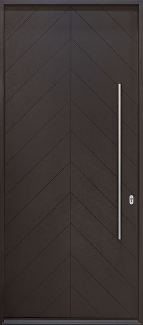 Modern Oak Wood Veneer Wood Front Door - Single - DB-EMD-715W CST