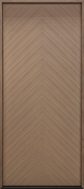 Modern Euro Collection Oak Wood Veneer Wood Entry Door - Single - DB-EMD-715W