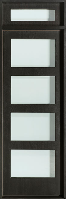 Modern Mahogany Wood Veneer Wood Front Door - Single - DB-EMD-823 TR CST
