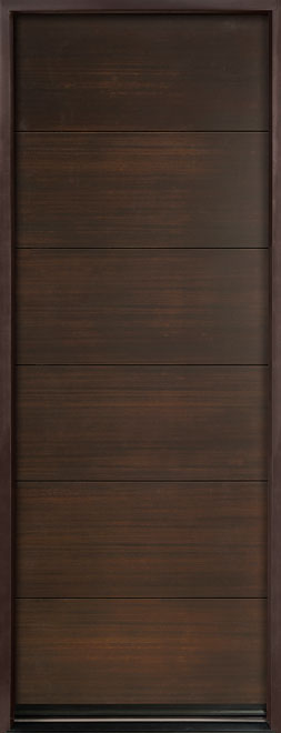 Modern Euro Collection Mahogany Wood Veneer Wood Entry Door - Single - DB-EMD-A4T