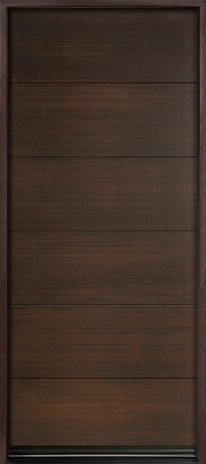 Modern Euro Collection Mahogany Wood Veneer Wood Entry Door - Single - DB-EMD-A4W