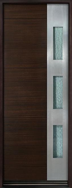 Modern Euro Collection Mahogany Wood Veneer Wood Entry Door - Single - DB-EMD-C1T