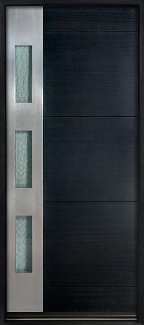 Modern Euro Collection Mahogany Wood Veneer Wood Entry Door - Single - DB-EMD-C1W