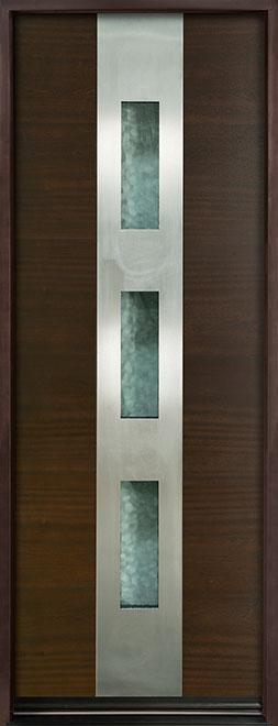 Modern Euro Collection Mahogany Wood Veneer Wood Entry Door - Single - DB-EMD-C2T