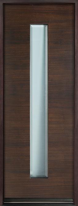 Modern Euro Collection Mahogany Wood Veneer Wood Entry Door - Single - DB-EMD-D4T