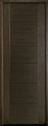 DB-EMD-711T Mahogany Wood Veneer-Walnut Wood Entry Door