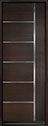 DB-EMD-B1T Mahogany Wood Veneer-Walnut Wood Entry Door