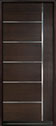 DB-EMD-B1W Mahogany Wood Veneer-Walnut Wood Entry Door