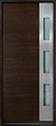 DB-EMD-C1W Mahogany Wood Veneer-Walnut Wood Entry Door